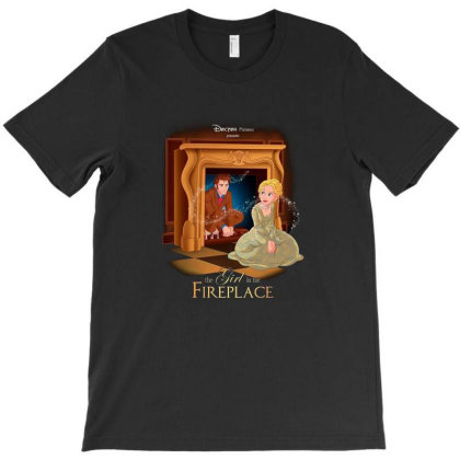 The Girl In The Fireplace T-shirt Designed By Brento