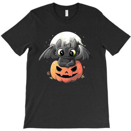 Baby Dragon Pumpkin T-shirt Designed By Mijil