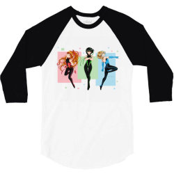 anime blossom, bubbles, buttercup 3/4 Sleeve Shirt | Artistshot