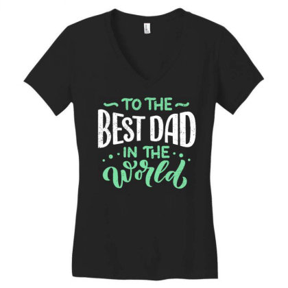 Father S Day Greeting Card Women's V-neck T-shirt Designed By Tamiart