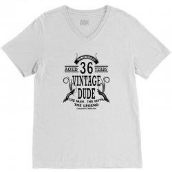 vintage dud 36 years V-Neck Tee   Artistshot