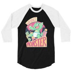 waddle monster scream 3/4 Sleeve Shirt | Artistshot