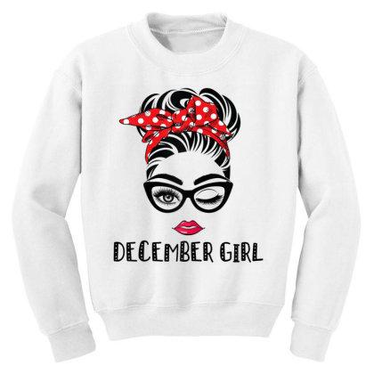 December Girl Woman Face Youth Sweatshirt