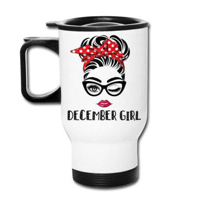 December Girl Woman Face Travel Mug Designed By Mrt90