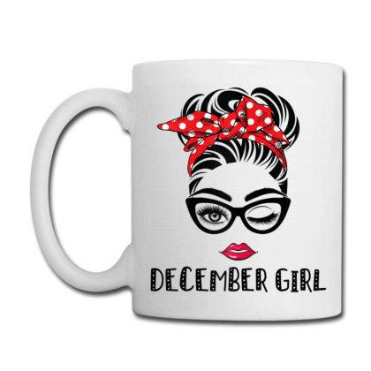 December Girl Woman Face Coffee Mug Designed By Mrt90