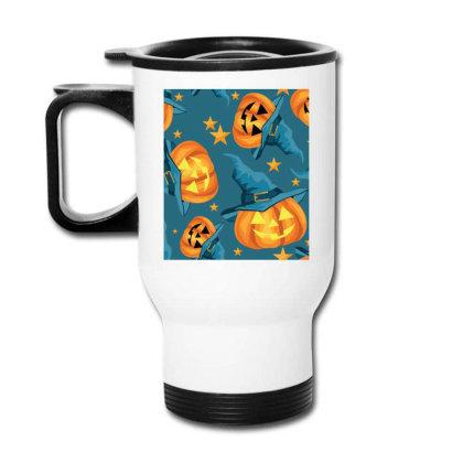 Halloween Pumpkins Travel Mug Designed By Chiks