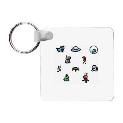 Among Us Plague Frp Square Keychain Designed By Citra Karinas