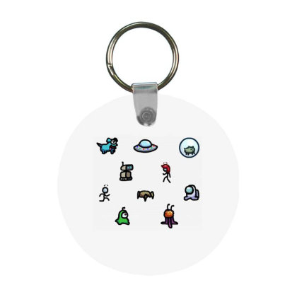 Among Us Plague Frp Round Keychain Designed By Citra Karinas