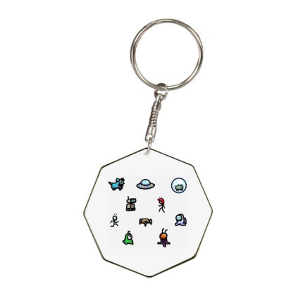 Among Us Plague Octagon Keychain Designed By Citra Karinas