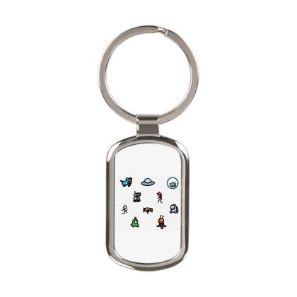 Among Us Plague Rectangle Keychain Designed By Citra Karinas