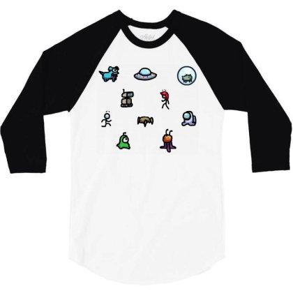 Among Us Plague 3/4 Sleeve Shirt Designed By Citra Karinas