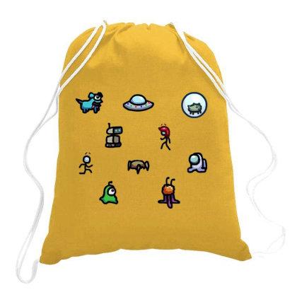 Among Us Plague Drawstring Bags Designed By Citra Karinas