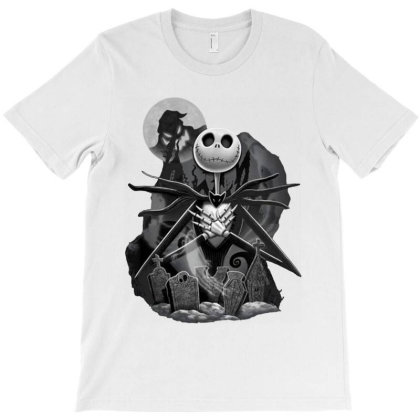 The Nightmare Before Christmas Night Scene T-shirt Designed By Advance Shirt