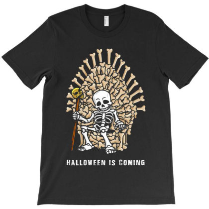 Funny Halloween Skeleton Bones Throne T-shirt Designed By Advance Shirt