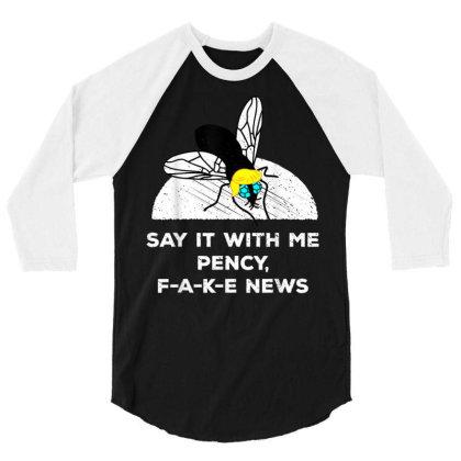 Debate Politics Trump Fly Vote 2020 3/4 Sleeve Shirt Designed By Kakashop