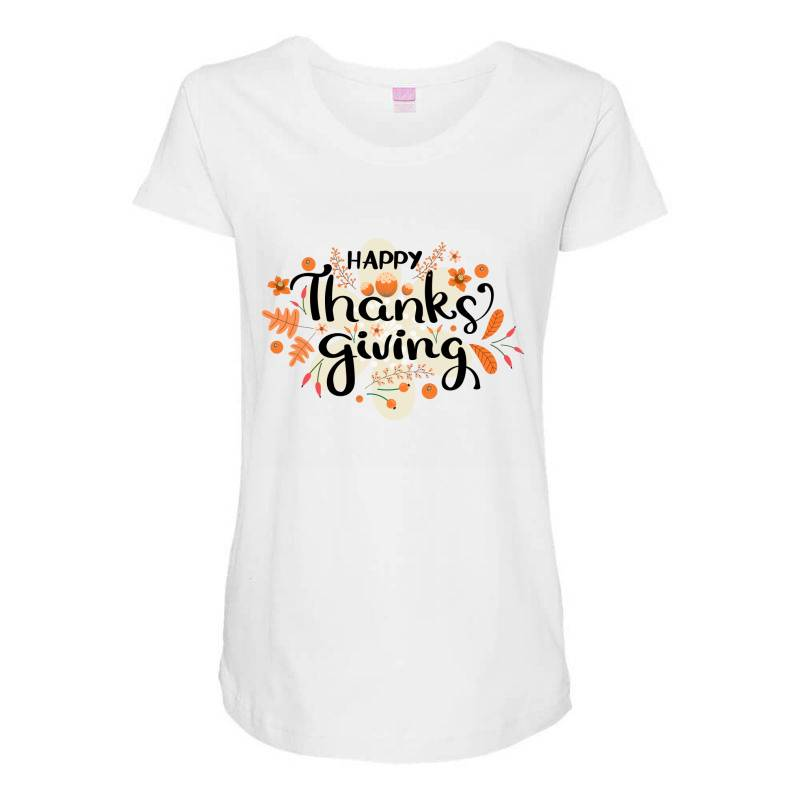 Happy Thanksgiving Day Maternity Scoop Neck T-shirt | Artistshot