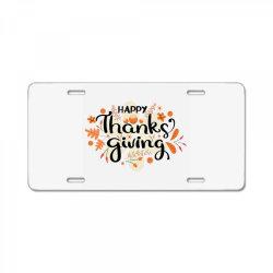 Happy Thanksgiving Day License Plate | Artistshot