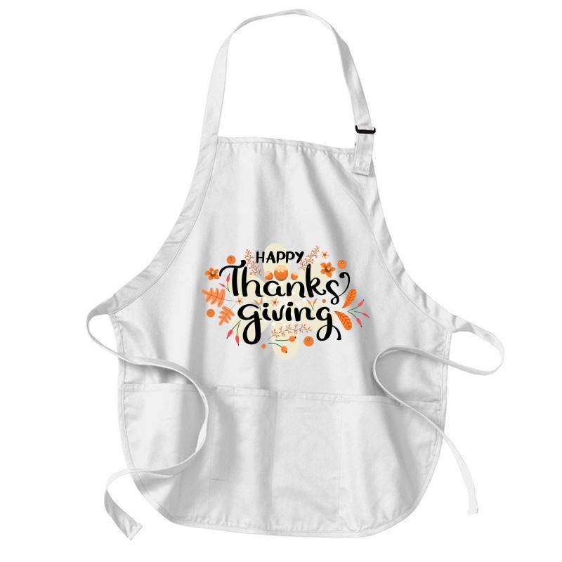 Happy Thanksgiving Day Medium-length Apron | Artistshot