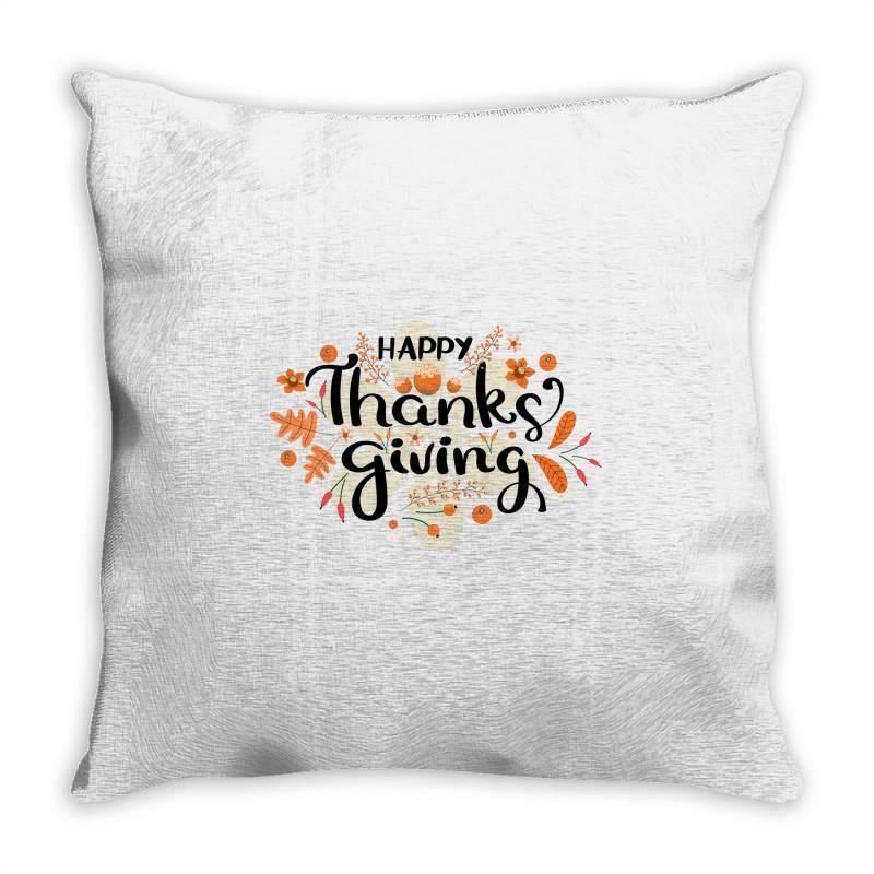 Happy Thanksgiving Day Throw Pillow | Artistshot