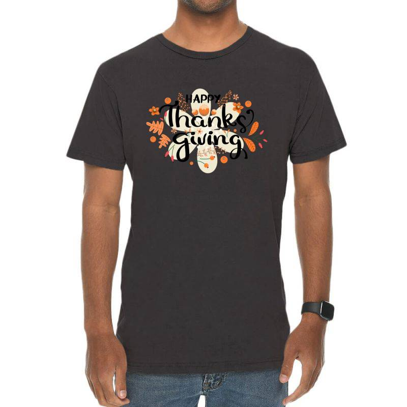 Happy Thanksgiving Day Vintage T-shirt | Artistshot