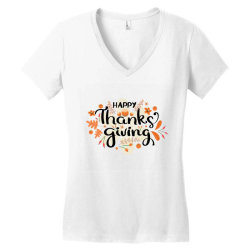 Happy Thanksgiving Day Women's V-Neck T-Shirt | Artistshot