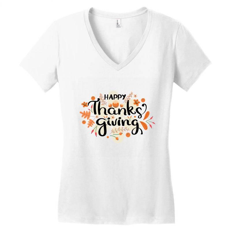 Happy Thanksgiving Day Women's V-neck T-shirt | Artistshot