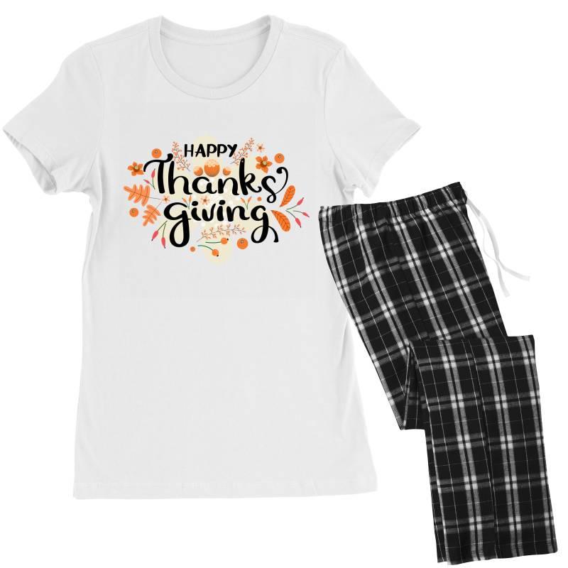 Happy Thanksgiving Day Women's Pajamas Set | Artistshot