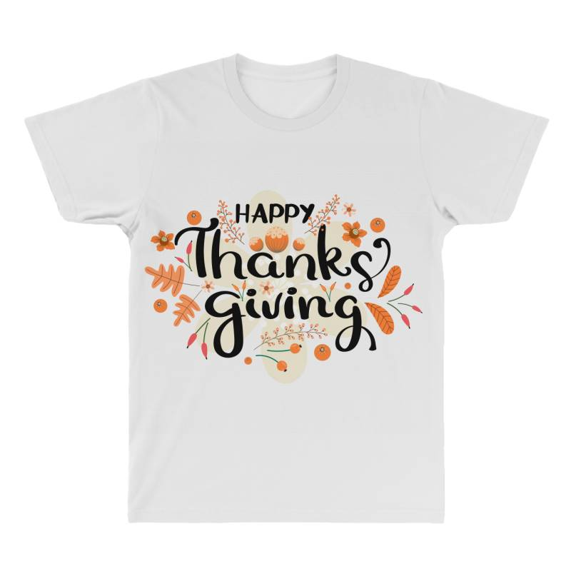 Happy Thanksgiving Day All Over Men's T-shirt | Artistshot
