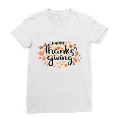 Happy Thanksgiving Day Ladies Fitted T-Shirt | Artistshot
