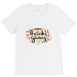 Happy Thanksgiving Day V-Neck Tee | Artistshot