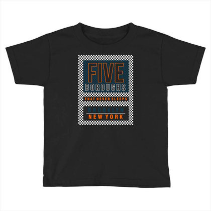 Five Boroughs In New York City Toddler T-shirt Designed By Tamiart