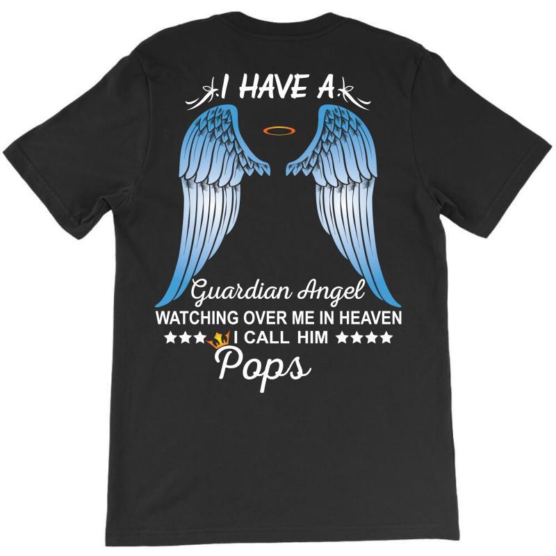 My Pops Is My Guardian Angel T-shirt   Artistshot