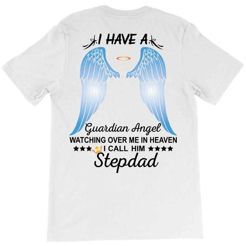 My Stepdad Is My Guardian Angel T-shirt   Artistshot