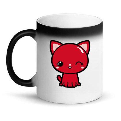 Cherry Head Kawaii Chibi Kitty Magic Mug Designed By Kessok