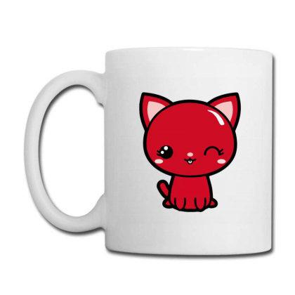 Cherry Head Kawaii Chibi Kitty Coffee Mug Designed By Kessok