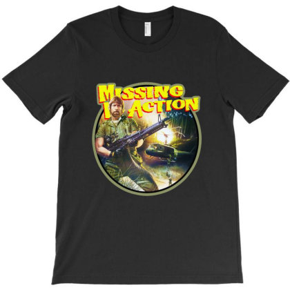 Chuck Norris Missing In Action T-shirt Designed By Carteron