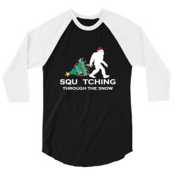funny sasquatch christmas 3/4 Sleeve Shirt   Artistshot