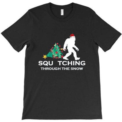 Funny Sasquatch Christmas T-shirt Designed By Albert254