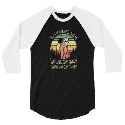 funny sloth hiking team 3/4 Sleeve Shirt | Artistshot