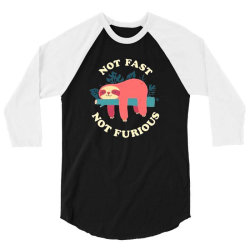 funny sloth not fast not furious 3/4 Sleeve Shirt | Artistshot