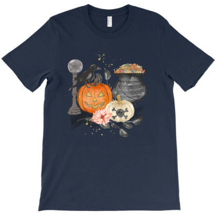 Halloween Elements T-shirt Designed By Chiks