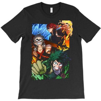 Academia Deku Izuki Bakogou Todoroki Monster T-shirt Designed By Pujangga45