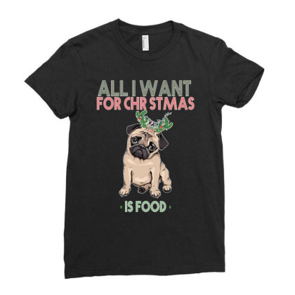 All I Want For Christmas Ladies Fitted T-shirt Designed By Bettercallsaul