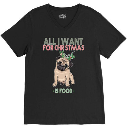 All I Want For Christmas V-neck Tee Designed By Bettercallsaul