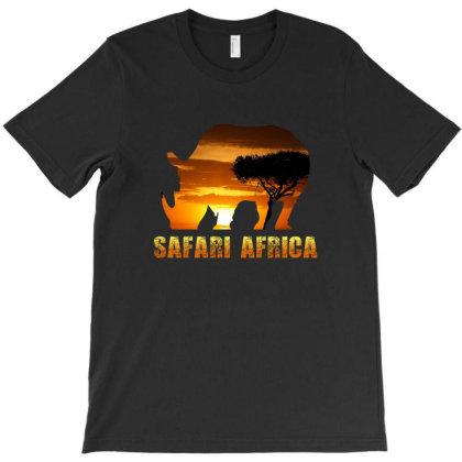 Safari Africa - Black Rhino T-shirt Designed By Kessok