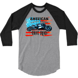 AMERICAN CAR  HOT ROD 3/4 Sleeve Shirt | Artistshot