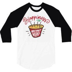 happiness instant noodles 3/4 Sleeve Shirt | Artistshot