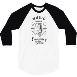 hand drawn microphone 3/4 Sleeve Shirt | Artistshot