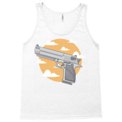 hand gun with clouds and sky background Tank Top | Artistshot