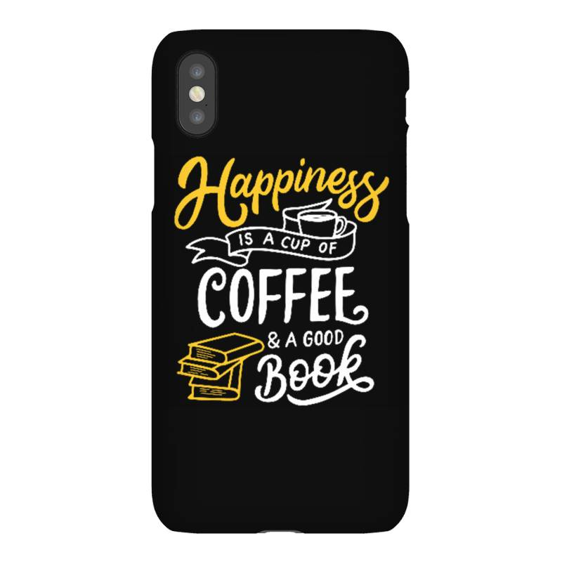 Happiness Is A Cup Of Coffee And A Good Book Iphonex Case | Artistshot
